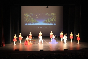 The Huanggang Huangmei Opera Troupe performed for students from the Owensboro and Daviess County school districts on Nov. 12 at the RiverPark Center.