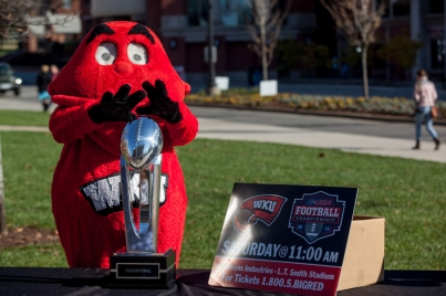 The WKU Red Wave and the School of Kinesiology, Recreation and Sport hosted a tailgate party on Dec. 4.
