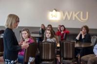 WKU graduate Amanda Beers spoke as part of the Honors College Alumni Series on Dec. 7.