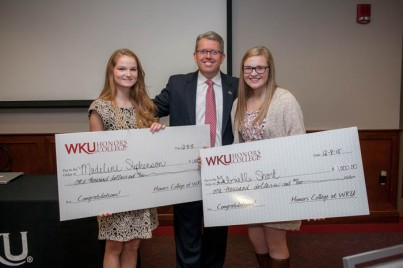 The Honors College at WKU and WBKO-TV hosted a reception on Dec. 8 for 2015-2016 Scholar of the Week recipients.