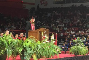Jessica Brumley was recognized as the Ogden Foundation Scholar at WKU's 178th Commencement on Dec. 12. (WKU photo by Clinton Lewis)