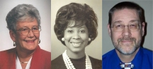 Members of the 2016 class of the Governor Louie B. Nunn Kentucky Teacher Hall of Fame are (from left) Marie Jones, Angela Alexander Townsend and Wendell Worley.