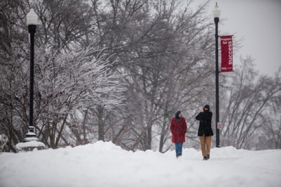 The snowstorm that hit Bowling Green and the WKU campus on Jan. 22, 2016, is one for the record books, according to a report from WKU's Meteorology Program and the Kentucky Climate Center.