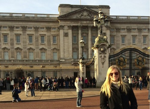 WKU student Kaley Deichstetter visited Buckingham Palace during a CCSA winter course in London.