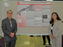 "Caleb B. Johnson, (left) a GSKyTeach graduate and a chemistry teacher at Southern High School in Louisville, and Dr. Martha M. Day, Associate Professor of Science Education and Executive Director of GSKyTeach, presented their research poster titled ""From STEM to STEAM: Thermodynamics and the art of Japanese Swordsmithing"" at the 2015 International Chemical Congress of Pacific Basin Societies (PAC CHEM™) in Honolulu, Hawaii."