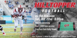WKU Football will host Old Dominion on Oct. 22.