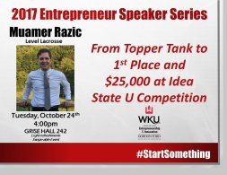 2017 Entrepreneur Speaker Series continues Oct. 24.