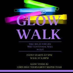WKU Glow Walk will be held Oct. 24.