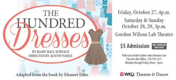 """Children's Theatre Series will present """"The Hundred Dresses"""" Oct. 27-29."""