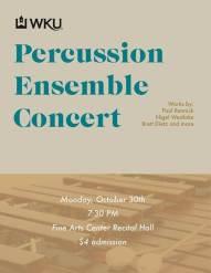Percussion Ensemble Concert Oct. 30