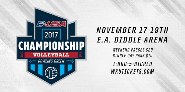 WKU will host the Conference USA Volleyball Champhionship Nov. 17-19.