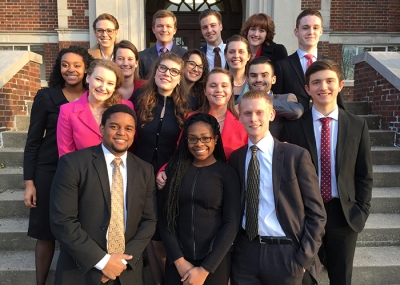 "Members of the WKU forensics team competed at the Murray State ""Jackson Purchase"" Swing tournament."