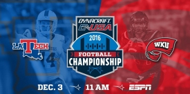 WKU will host Louisiana Tech in the Conference USA championship game on Dec. 3.