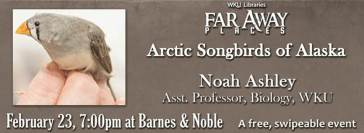 Noah Ashley will be the featured speaker for the Far Away Places Series on Feb. 23.