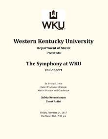 The Symphony at WKU will perform on Feb. 24.