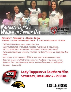 National Girls & Women in Sports Day will be held Feb. 4.