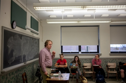 Scenes from an English class at Cherry Hall.