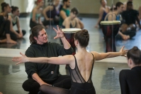Denise Vale of Martha Graham Dance Company conducted a master class on Feb. 2.