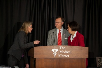 WKU and The Medical Center have partnered with the University of Kentucky College of Medicine to develop a satellite program in Bowling Green for four-year medical education. The announcement was made Feb. 18 at The Medical Center-WKU Health Sciences Complex.