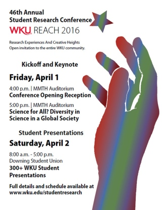 The Student Research Conference will be held April 1-2.