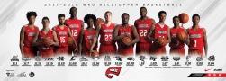 Hilltopper Basketball 2017-18 home schedule poster