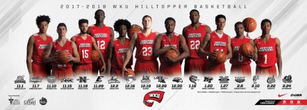 Hilltopper Basketball 2017-18 home schedule poster