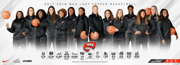 Lady Topper Basketball 2017-18 home schedule poster