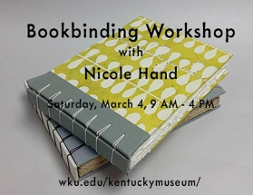 Bookbinding Workshop will be held March 4.