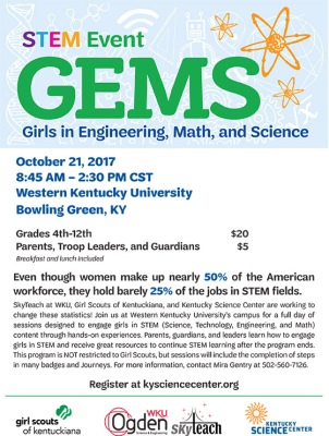 Girls in Engineering, Math and Science will be held Oct. 21.