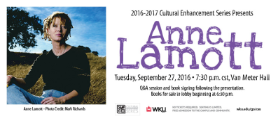 Anne Lamott will visit WKU on Sept. 27 as part of the Cultural Enhancement Series.