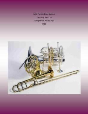 WKU Faculty Brass Quintet will perform Sept. 28.