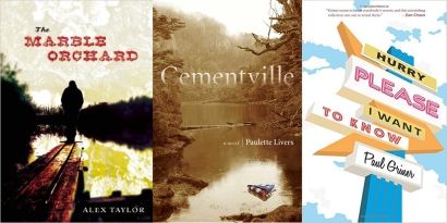 The three finalists for the 2016 Kentucky Literary Award are: The Marble Orchard, Alex Taylor; Cementville, Paulette Livers; and Hurry Please, I Want to Know, Paul Griner. The winner will be announced April 22.