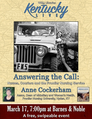 Anne Cockerham will be the next speaker in WKU Libraries' Kentucky Live! speaker series on March 17.