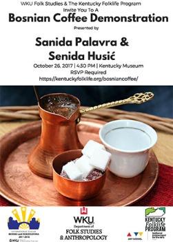 A Bosnian Coffee Demonstration will be held Oct. 26.