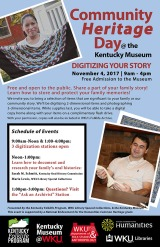 Community Heritage Day will be held Nov. 4.