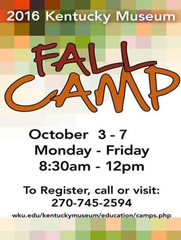 Fall Break Camp at the Kentucky Museum will be held Oct. 3-7.