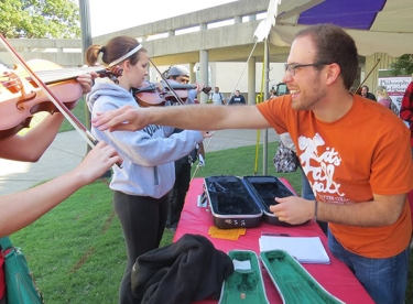 "WKU's American String Teachers Association has participated in several activities in the past year, including an ""instrumental petting zoo"" during the Potter College of Arts & Letters' annual fall festival."
