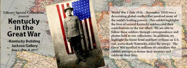 Kentucky in the Great War exhibit is open through Dec. 8.