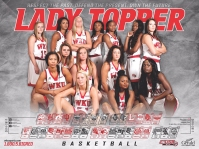 Lady Topper Basketball 2016-17 schedule poster