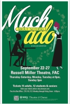 """""""Much Ado About Nothing"""" will be presented Sept. 22-27."""