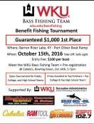 The WKU Bass Fishing Team will host a tournament on Oct. 15.