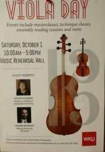 WKU Viola Day will be held Oct. 1.