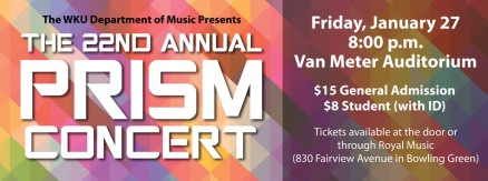 The 22nd annual PRISM Concert will be held Jan. 27.