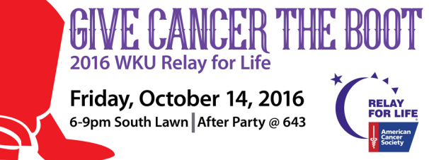 WKU Relay for Life will be held Oct. 14.