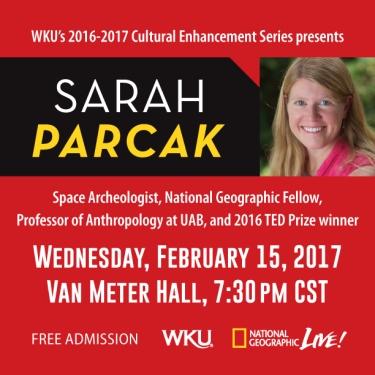 Cultural Enhancement Series resumes Feb. 15 with Sarah Parcak.