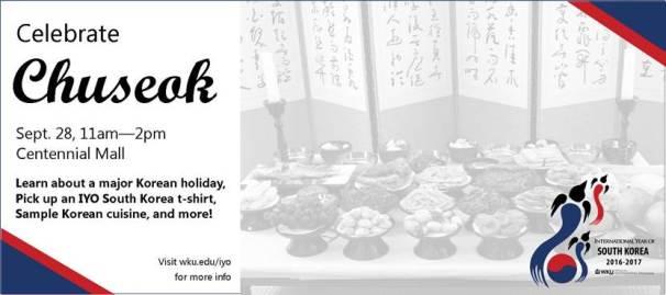 Celebrate Chuseok on Sept. 28.