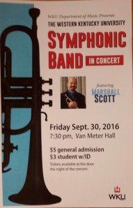 WKU Symphonic Band will present a concert Sept. 30.