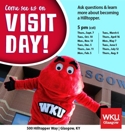 WKU Glasgow will host Visit Day events.