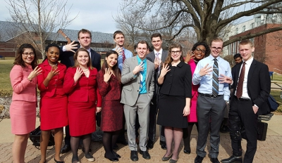 """WKU was crowned champion in both individual events team sweepstakes and overall team sweepstakes at the Webster University """"Gorlok Gala."""""""