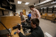 WKU Engineering class works on a proximity alarm/fence project for possible use in South Africa.